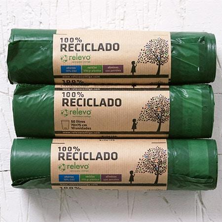 Relevo, Bolsas de basura verde 100% recicladas